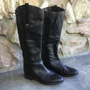Sam Edelman Penny Rider Boots Black Leather